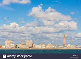 seine maritime le havre seafront with porte oceane and