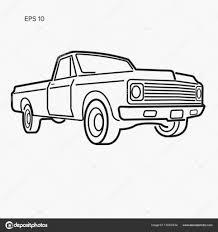 100 Old School Truck Vintage Pickup Truck Vector Illustration School American Car