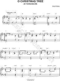 Traditional O Christmas Tree Sheet Music Piano Solo In F Major