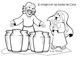 El Rincón De Las Melli DIBUJO El Milagro De Las Bodas De Caná