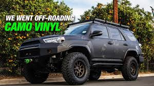 100 Cost To Wrap A Truck CMO WRPPED TOYOT 4RUNNER YouTube