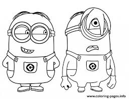 Minion Coloring Pages Free Printable With Regard To