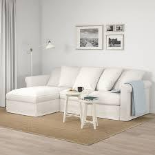grönlid 3er sofa mit récamiere inseros weiß ikea