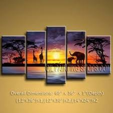 Adorable Landscape Multiple Canvas Wall Art Beautiful Huge Panels Oil Paintings Tree Vintage Style Contemporary Interior