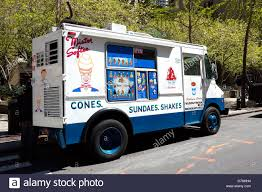 A Mister Softee Ice Cream Truck Parked On A Street In Manhattan, New ...