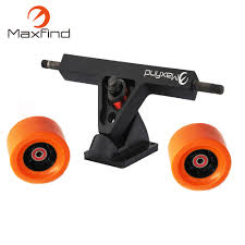 Maxfind DIY Longboard Skateboard Aluminum Trucks And PU Wheels 83mm ...