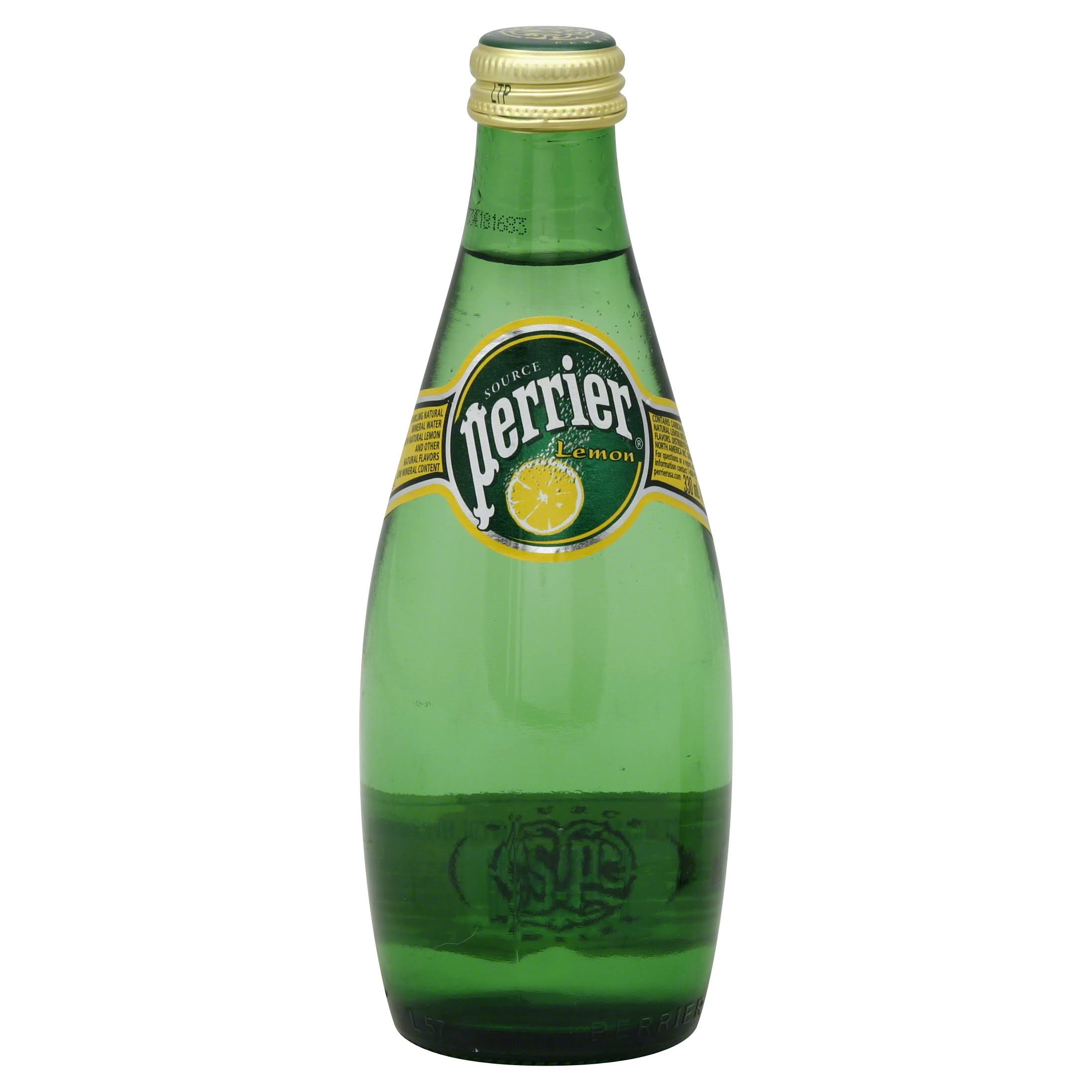 Perrier Sparkling Natural Mineral Water, Lemon - 11.15 fl oz