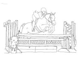 Coloring Pages Of Horses Jumping Horse