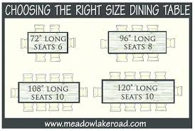 What Size Round Table Seats 10 Dining Room Chairs