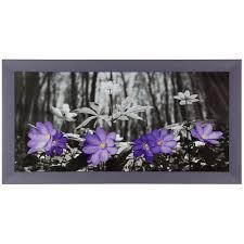 bild wandbild kunstdruck gerahmt 33x70 cm blumen wald