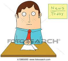 Clipart Of News Anchor K13865093