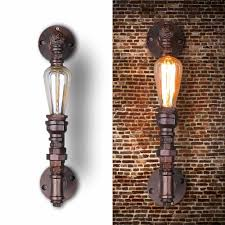 nordic loft style industrial water pipe l vintage wall light