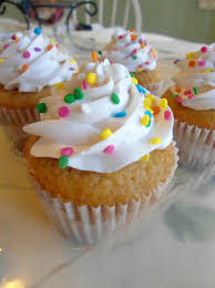 Vanilla Cupcakes with Sprinkles by PnJLover Vanilla Cupcakes with Sprinkles by PnJLover