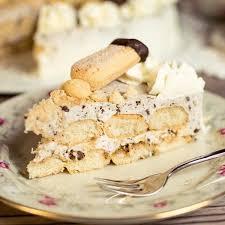 löffelbiskuit torte mit stracciatella creme