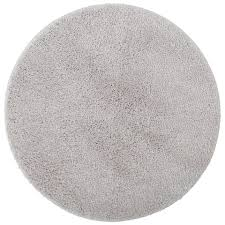 microfaser badematte uni de luxe ø 60 cm hellgrau
