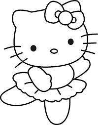 Coloriage Hello Kitty Danseuse à Imprimer Sur COLORIAGES Info