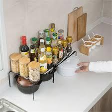 kochen genießen erweiterbare spice rack organizer küche