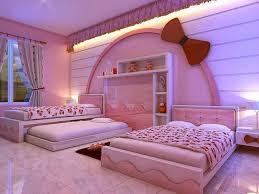 Bedroom Awesome Pinky Modern Decor For Girls Room That Has Pink Bed Can Add The