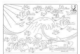 Outstanding Bible Creation Coloring Page With Days Of Pages And