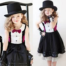 Girls Boutique Clothing New Arrival Girl Childrens Clothes Bowknot Dresses Vintage Kids For Disfraces
