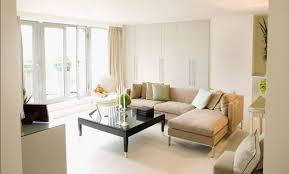 bright themed apartment living room ideas by glass slidding doors