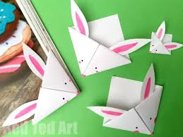 Easy Paper Bunny Bookmark Corner