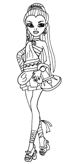 Style Of Nefera De Nile Monster High Coloring Page