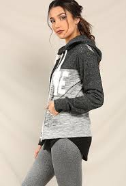 heathered love graphic zip up hoodie shop tops at papaya clothing