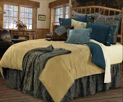 Belle Vista Bedding Set Adorn Your Bedroom With Soothing Blues Russet And Soft Sand