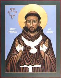 francis of assisi icon by nicholas markell