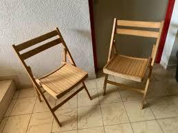 2 x holz stuhl klappstuhl balkon esszimmer gäste cing