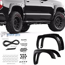 100 Wheel Flares For Trucks TEXTURED 1418 Toyota Tundra Pocket Rivet Fender Cover