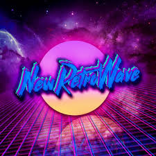 New Retro Wave Neon Space 1980s Synthwave Digital Art Typography