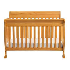 davinci kalani 4 in 1 convertible baby crib in honey oak m5501o