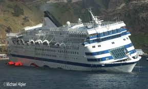 Cruise Ship Sinking Santorini by Classic Cruiseships