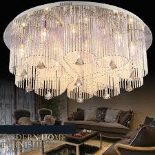 großhandel neues design rgb led deckenleuchte moderne esszimmer kristall kronleuchter le beleuchtung vorrichtung mit fernbedienung flush