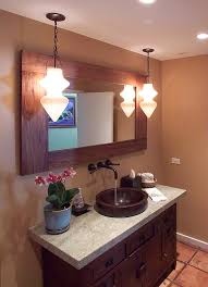 Plants For Bathroom Counter by Copper Vessel Sinks Powder Room Contemporary With Above Counter
