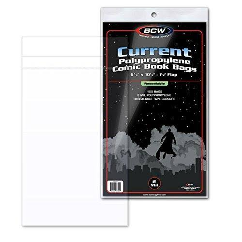 BCW Current Resealable Comic Book Bags - 100 Count