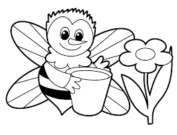 Bee Animals Coloring Pages For Babies