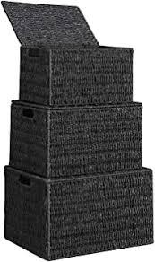 songmics aufbewahrungsboxen geflochten aus papierseil