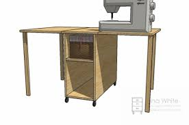 Sewing Cabinet Woodworking Plans by 12 Diy Sewing Table Tutorials