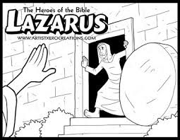 The Heroes Of Bible Coloring Pages Lazarus