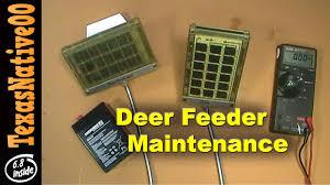 Deer Feeder Maintenance & Trouble Shooting Batteries & Solar