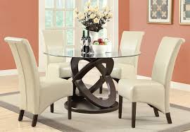 monarch specialties 1749 1777tp 5 piece round dining room set in