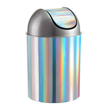 Small Rectangular Bathroom Trash Can by Umbra 2 5 Gal Rainbow Mezzo Swing Lid Trash Can The Container Store