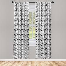 gardine fensterbehandlungen 2 panel set für wohnzimmer schlafzimmer dekor abakuhaus kuh druck tierhaut entwurf kaufen otto