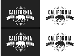 Retro Design Logos Of A California Bear With Removable Grunge Texture Download This Free Vector And Use Them However You Wish