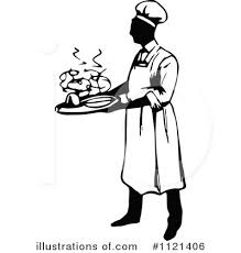 Royalty Free RF Chef Clipart Illustration by Prawny Vintage
