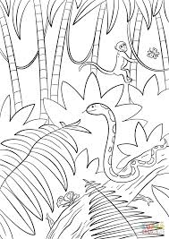 Click The Jungle Scene Coloring Pages