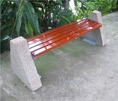 Outdoor Concrete Bench Outdoor Wooden Bench Outdoor Concrete Bench